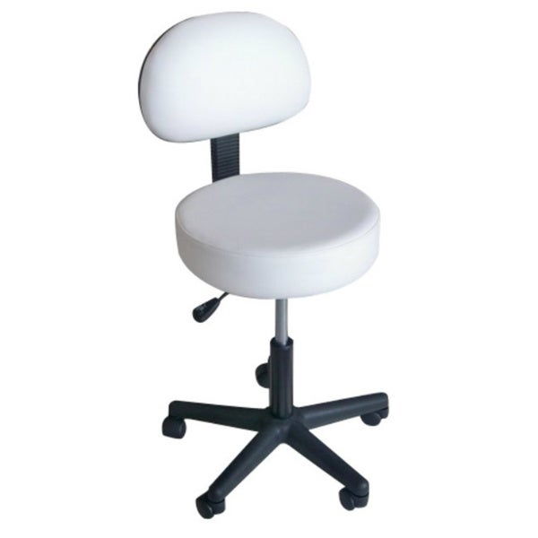Pneumatic Rolling Massage/ Medical Stool with Back Rest