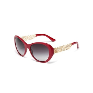Dolce & Gabbana Catwalk Matte Bordeaux Sunglasses - (Gray Gradient Lens)