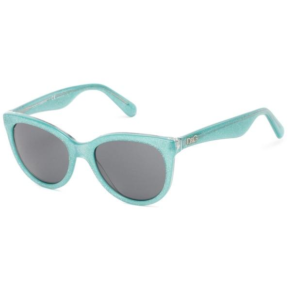 Dolce & Gabbana Urban Essential Streetwear Glitter Green Sunglasses (Gray Lens)