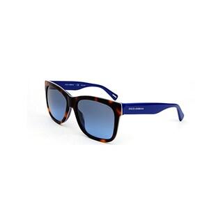 Dolce & Gabbana DG4158 P27068F Urban Essential Streetwear Sunglasses - Havana/Blue (Gray Blue Gradient Lens)
