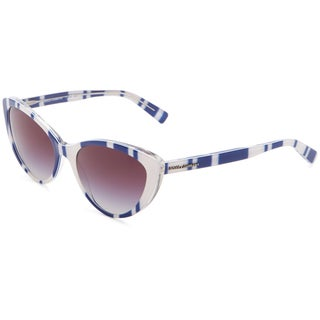 Dolce & Gabbana Catwalk DG4181P 27208G Stripes Sunglasses - Blue/White (Gray Gradient Lens)