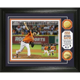 """Mike Fiers """"No-Hitter"""" Gold Coin Photo Mint"""