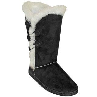 Dawgs Women's 13-inch 5-button Microfiber Boots