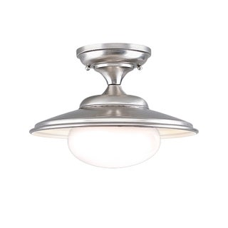Hudson Valley Independence Satin Nickel Semi Flush