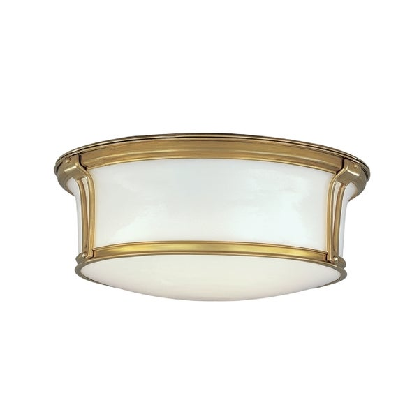 Hudson Valley Newport Flush 2-light Aged Brass Flush Mount