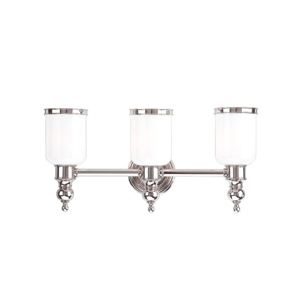 Hudson Valley Lighting Bradford: Hudson Valley Chatham 3-light Polished Nickel Vanity