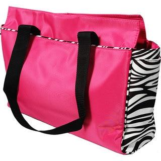 Zebra Trim Microfiber Office Tote Bag