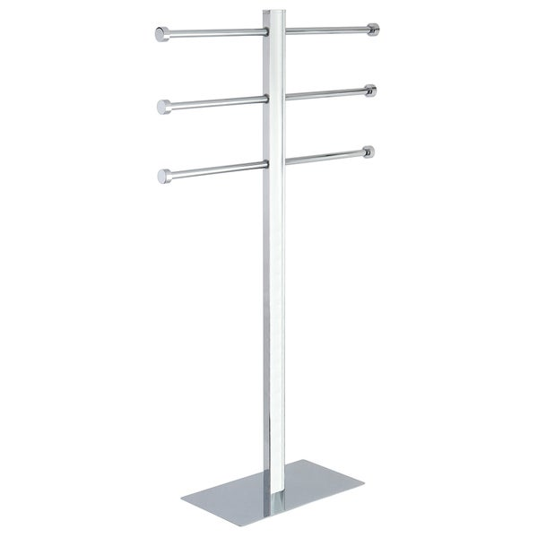Freestanding Stainless Steel Towel Holder in Chrome