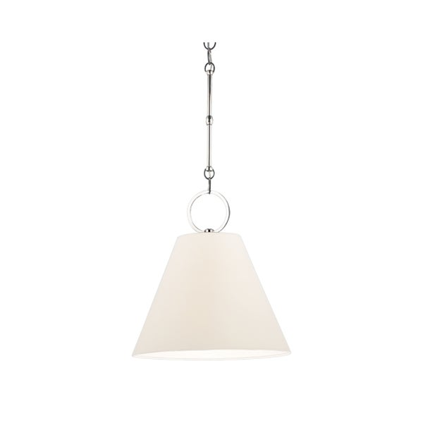 Hudson Valley Altamont Polished Nickel Pendant, Off-white