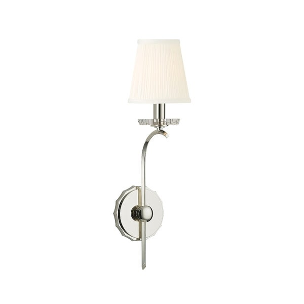 Hudson Valley Clyde Polished Nickel Wall Sconce