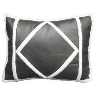 Barnwood 16-inch Sherpa Throw Pillow