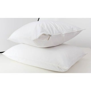 Somette Waterproof Zippered Hypoallergenic Pillow Protector (Set of 2)