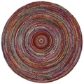 Brilliant Ribbon Multi Colored (3'x3') Round Rug