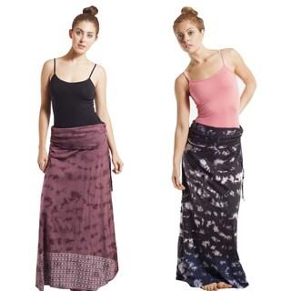 Tie-dye Aztec Sunrise Stripe Maxi Skirt