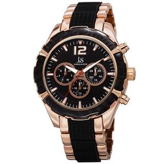 Joshua & Sons Men's Swiss Quartz Multifunction Dual-Time Bracelet Watch