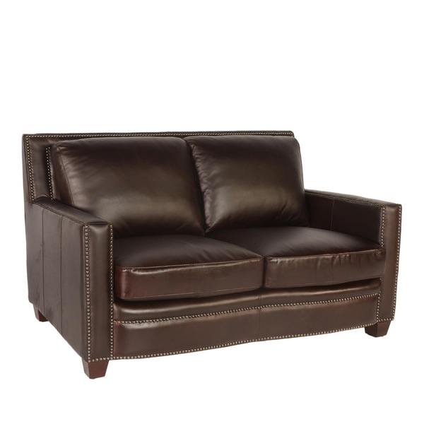Lazzaro Leather Simplicity Loveseat