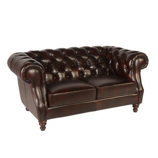 Cole Cleo Black Leather Loveseat 14097462 Shopping Great Deals On Sofas