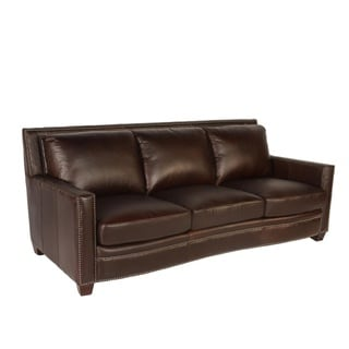 canape 86 inch oxford honey leather sofa   16070447