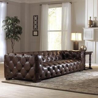 Lazzaro Leather Nautical II Sofa and half