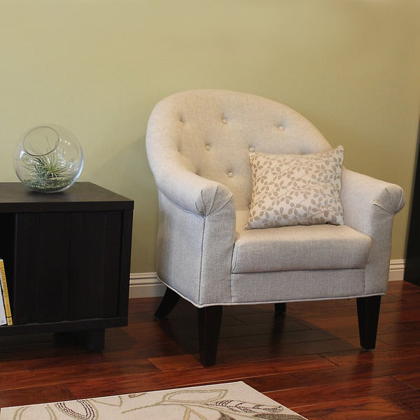 Dorothy Beige Tufted Upholstered Accent Chair