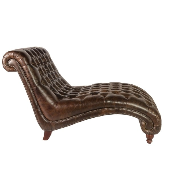 Lazzaro Leather Cathay Brompton Chocolate Chaise and Half