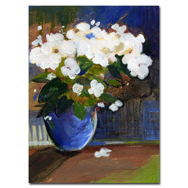 Sheila Golden 'The Blossoming' 14x19 Canvas Wall Art