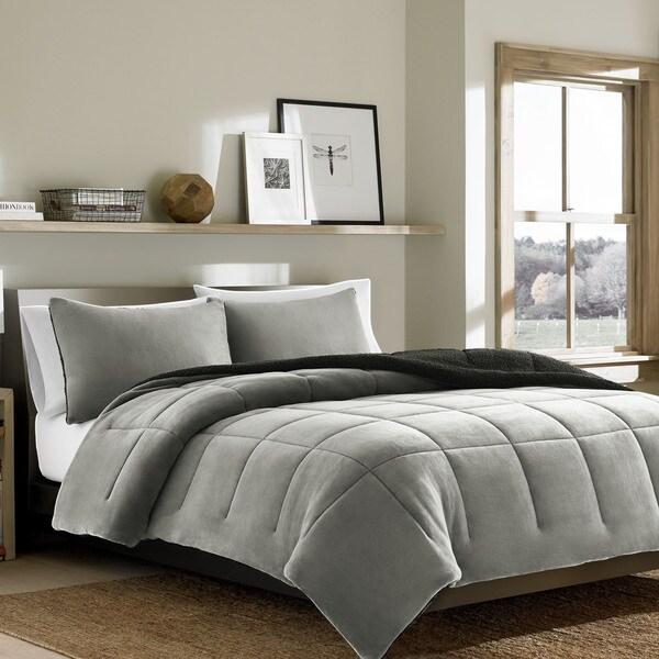 Eddie Bauer Premium Fleece Chrome Comforter Set 17616103