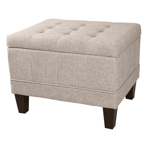 DonnieAnn Dorothy Tufted Upholstered Storage Ottoman in Beige