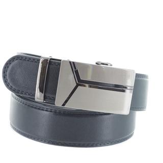 Faddism Men's Genuine Leather Belt with Gun Metal Buckle