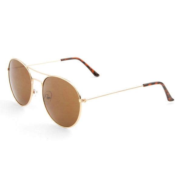 EPIC Eyewear Retro Vintage Double Bridge Round Aviator Fashion Sunglasses