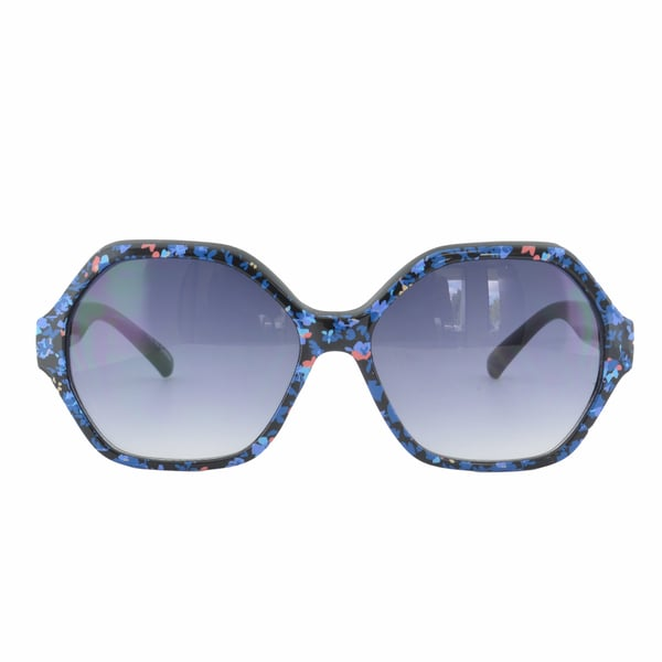 EPIC Eyewear Hexagon Floral Print High Fashion Sunglasses