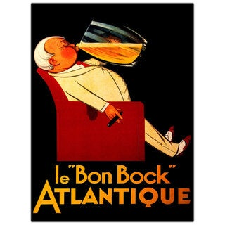 Vintage Art 'Bon Bock' Canvas Wall Art