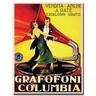 Vintage Art 'Grafafoni Columbia' Canvas Wall Art
