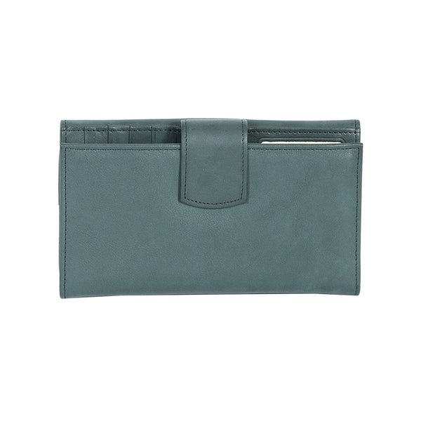 Scully Forest Leather Maxi Clutch