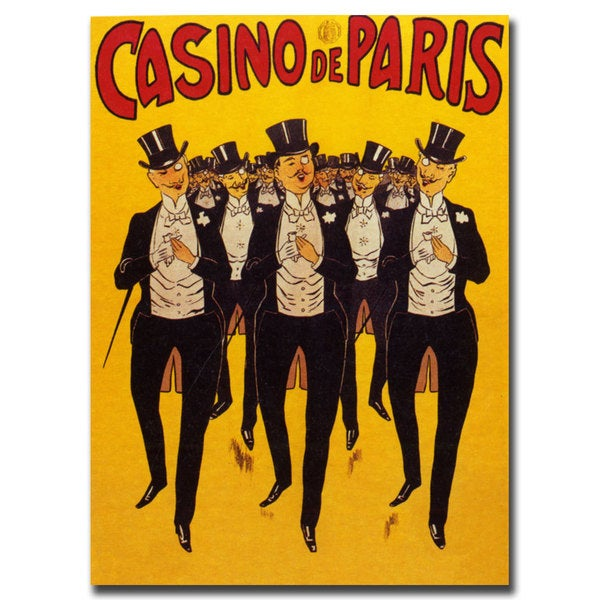 Vintage Art 'Casino de Paris' Canvas Wall Art 16189020