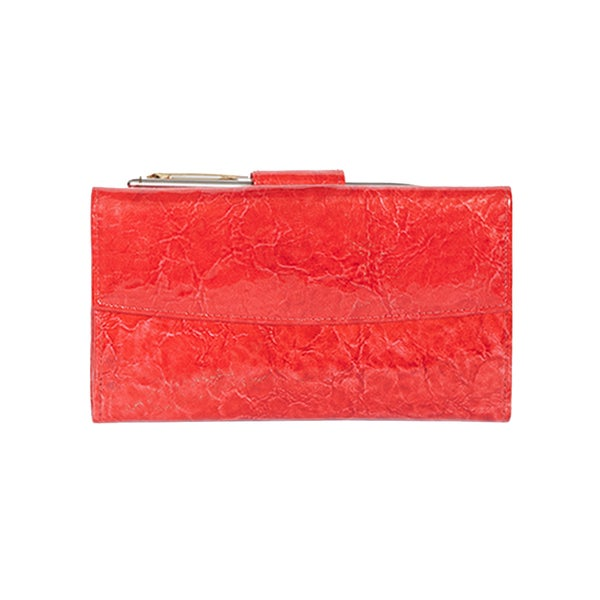 Scully Red Leather Maxi Clutch
