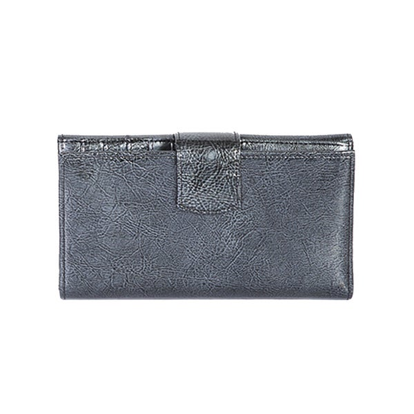 Scully Black Leather Maxi Clutch