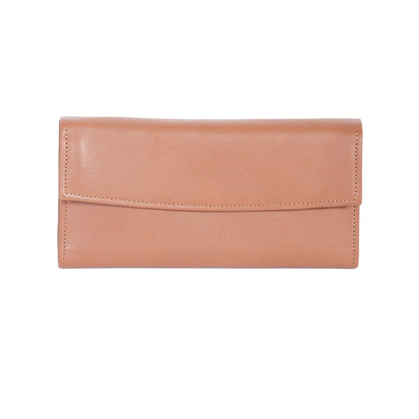 Scully Tan Leather Wallet Clutch