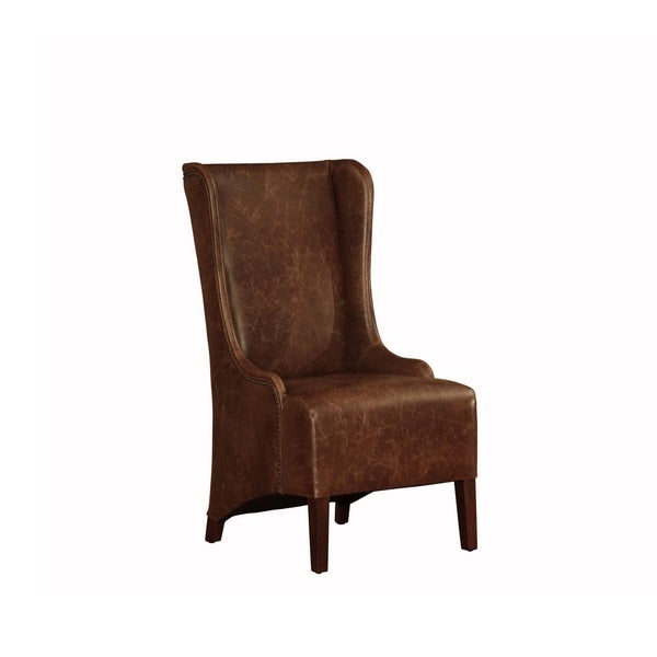 Lazzaro Leather King High Back Dining Chair