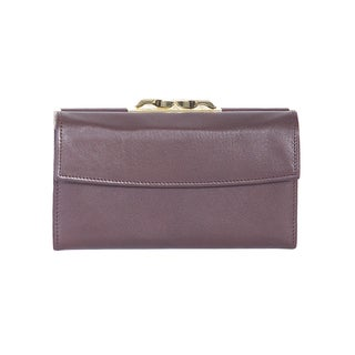 Scully Brown Leather Framed Clutch