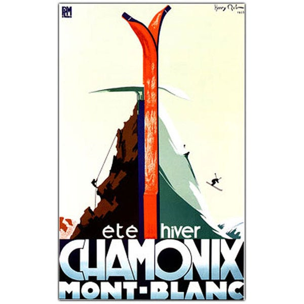 Vintage Art 'Chamonix Mont. Blanc' Canvas Wall Art