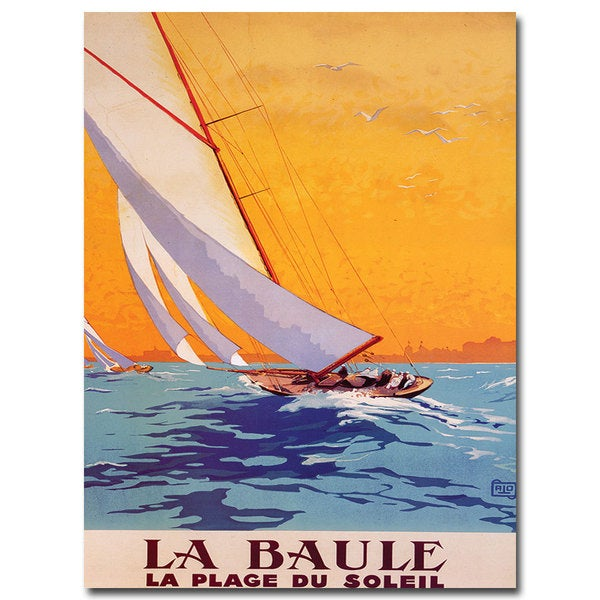 Charles Allo 'La Baule' Canvas Wall Art