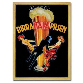 Vintage Art 'Birra Itala Pilsen' Canvas Wall Art