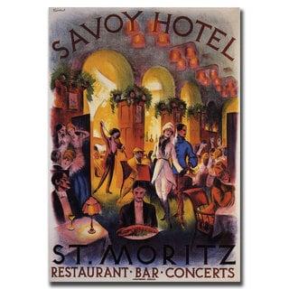 Vintage Art 'Savoy Hotel St. Moritz' Canvas Wall Art