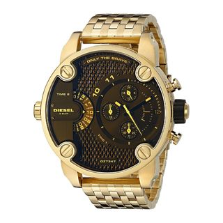 Diesel Men's DZ7347 'Little Daddy' Chronograph Dual Time Gold-Tone Stainless Steel Watch
