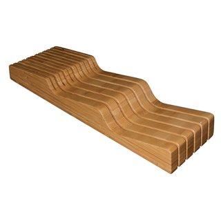 Organic In-drawer Bamboo Knife Block Organizer Storage Block