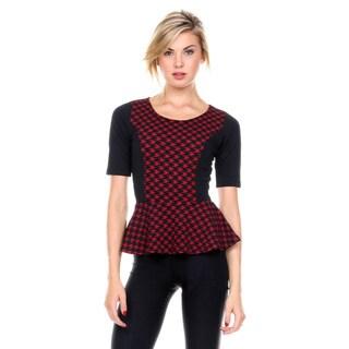 Stanzino Women's Peplum Short Sleeve Top