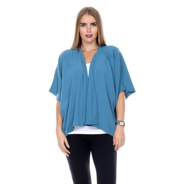 Stanzino Women's Solid Draped Kimono Top 16189424