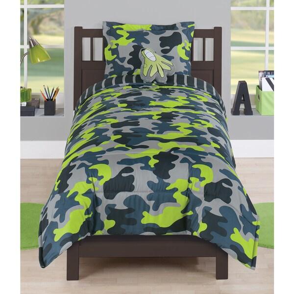 Green Camo Comforter Set