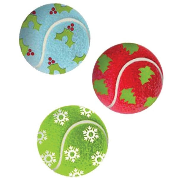 Kong Holiday Tennis Balls (Set of 3)